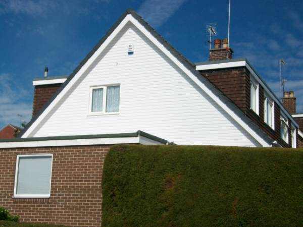 PVC CLADDING TO GABLE END