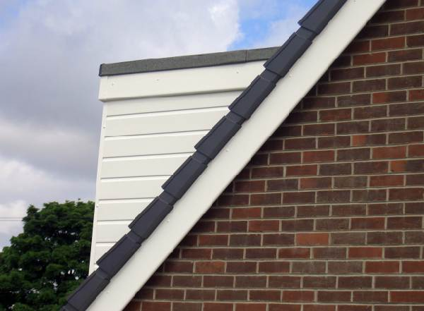SIDE OF DORMER CLADDING PVC